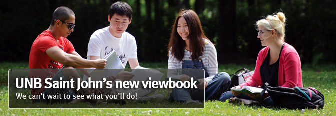 UNB Saint John's new viewbook