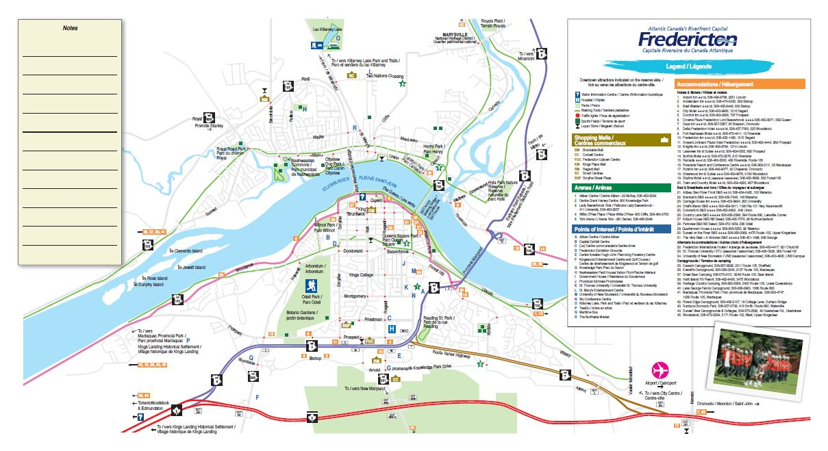 Map Of Fredericton Nb Travel Information | UNB
